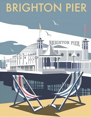 Brighton Pier by Dave Thompson fridge magnet   (se)