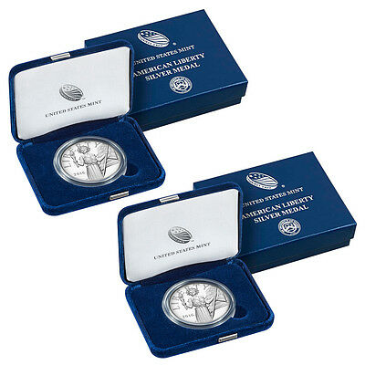 2016-W & S 1 oz Proof Silver American Liberty Medal *2 Medal Set In OGP SKU42573