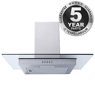 SIA FG61SS 60cm Flat Glass Stainless Steel Chimney Cooker Hood Extractor Fan