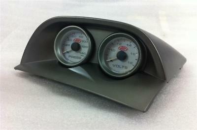 Holden Commodore VY VZ Dual Gauge Cup Holder w VOLTS & OIL PRESSURE 52mm Gauges