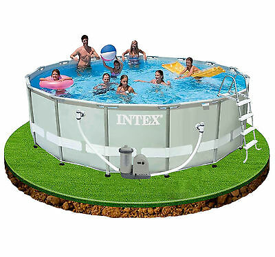 Intex 16ft x 48in Ultra Frame Swimming Pool + Filter Pump, cover, ladder etc