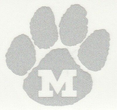 REFLECTIVE Michigan Wolverine decal sticker up to 12 inches RTIC hardhat UM