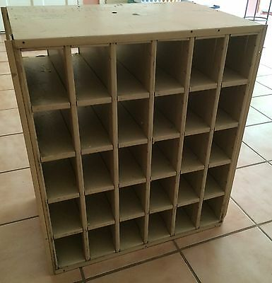 Post Office P.o. Box Cabinet! Metal Cubbyhole Vintage Antique Industrial Storage