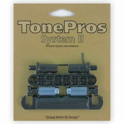Tonepros Locking Tune-O-Matic Bridge & Tailpiece Set for Epiphone - Black