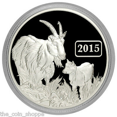 2015 Tokelau Proof 1 oz Silver Lunar Year of the Goat Coin with COA