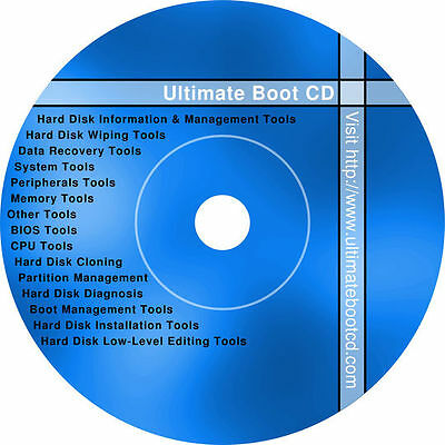 Bootable Diagnostics CD/DVD (Fix Repair Recover Clone Scan) USB at request (+$6)