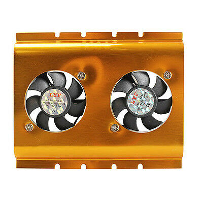 XD#3 3.5 Inch Dual Cooling Fan Hard Disk Driver HDD Cooler for PC SATA IDE