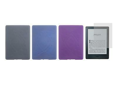 TPU Skin Cover Case and Screen Protector for Amazon Kindle 8th Generation 2016