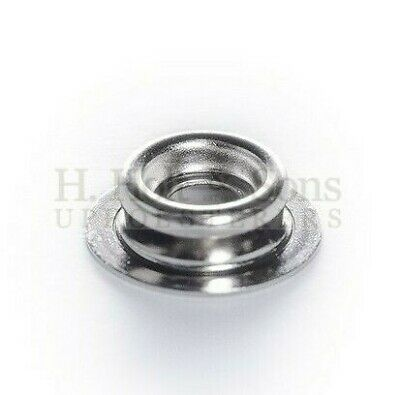 Snap Fasteners - 316 Stainless Steel - Press studs - Marine Grade - 50 Count