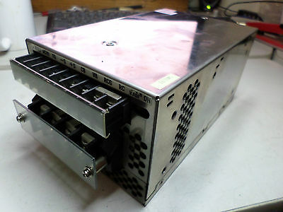 COSEL POWER SUPPLY 24DC at 14amps Output. 100-120/200-240ac input SS body