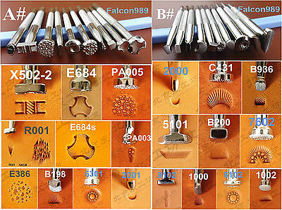 20pcs Stainless Steel Leather Craft Master Stamping Stamp Punch Stamper Tool -AB
