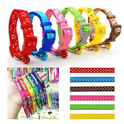 Cute Pet Dog Puppy Cat Soft Glossy Reflective Collar Net Safety Buckle with Bell