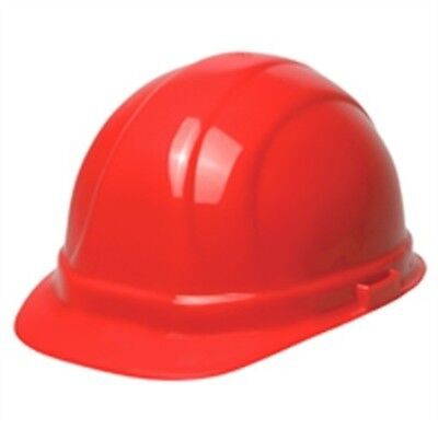 ERB Safety 19134 Omega II Cap 6-Point Nylon Suspension Red