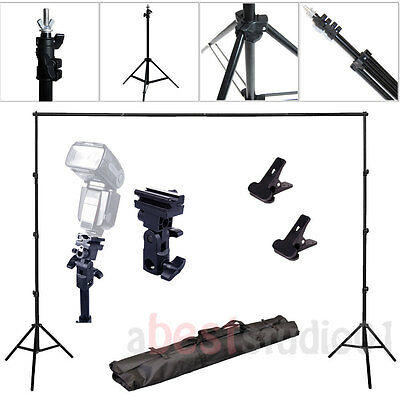 Adjustable Background Support Stand Photo Backdrop Crossbar Flash Holder Bracket