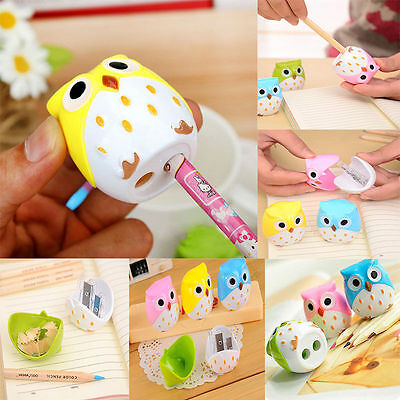 2pc Korea Creative Kawaii Owl Pattern Pencil Sharpener Cutter Office Stationery