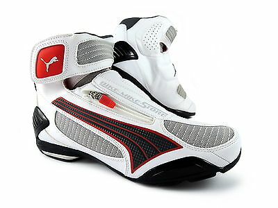 c7d7b04fdc801e New New Puma Testastretta III Motorcycle Shoes 250 Vented White Red 39-48