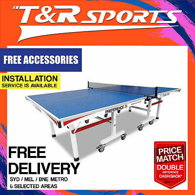 Double Fish Tournament 25MM Ping Pong Table Tennis Table with Accessory Package