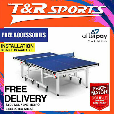 16Mm Pro Size 30Mm Leg Double Star Ping Pong Table Tennis Table + Free Gift Pack