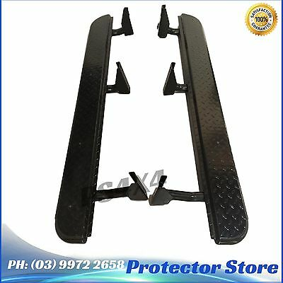 Heavy Duty Steel Side Steps Toyota Hilux 2005-2015 Sidesteps 4X4 4WD Airbag Comp
