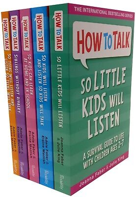How to Talk So Kids and Teens Will Listen 4 Books Collection Set Parenting Guide