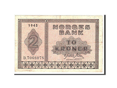 [#115402] Norwegen, 2 Kroner, 1945, KM:16a1, Undated, EF(40-45)