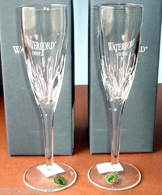 Waterford Abbington Champagne Flute Pair (2) Crystal Made in Ireland 109596 New