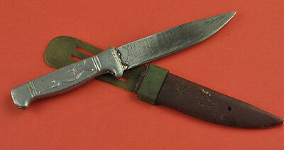 RARE VTG SMALL HUNTING KNIFE DEER with SCABBARD