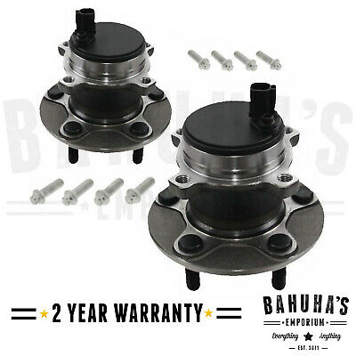 X2 Rear Wheel Bearing + Hub + Abs Sensor Pair For A Ford Focus Mk2 2003 Onwards