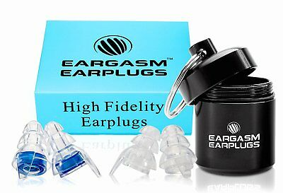 Eargasm High Fidelity Noise Canceling Earplugs-Reduce Noise By Up to 21 Decibels