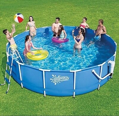 15ft X 36inch Metal frame Pool Kit With Filter, Pump, Ladder, Cover & Grnd Cloth
