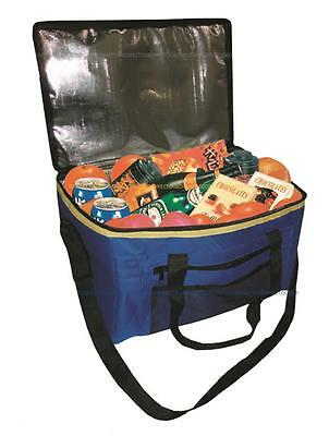 48 Can Insulated Zip Cool Bag Ice Drink Chill Picnic Portable Lightweight 24L