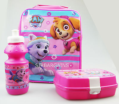 Paw Patrol Skye Children Kid Lunch School Bag Box Sports Bottle Girls Vertical