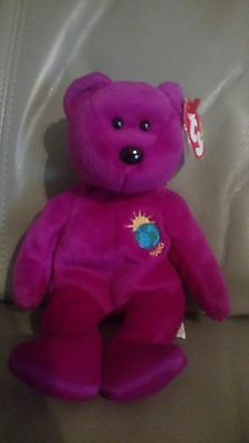 rare millennial bear beanie baby millennial spelled wrong on swing tag and  tush c866af8785a