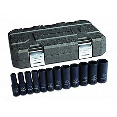 "GearWrench 12 Pc. 1/2"" Drive 6 Point SAE Deep Impact Socket Set - 84942N"