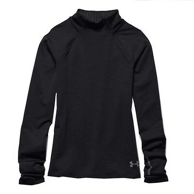 Youth Girls Under Armour Coldgear Infrared Ls Base Layer Shirt Top Black S,m Nwt
