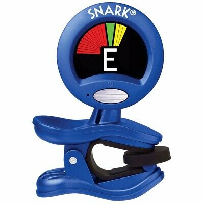 New Snark SN1X Blue Clip-On Chromatic Instrument Tuner for Guitar and Bass