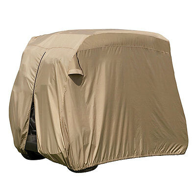 Classic Accessories 74442 Fairway Golf Car Easy-On Cover, Tan