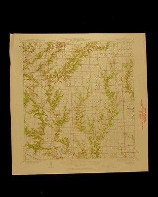 Greenup Illinois vintage 1958 original USGS Topographical chart