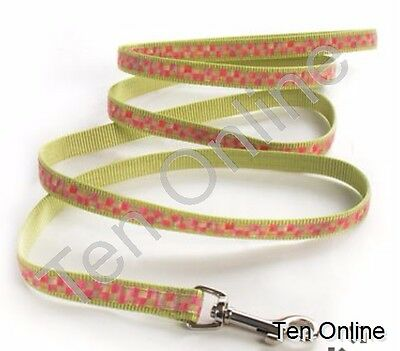MacKenzie Childs   Tulip  Check Couture   Small     Pet Lead  New