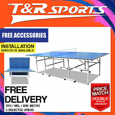 Dh 13Mm Foldable Ping Pong Table Tennis Table + Accessory Package Free Post