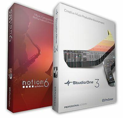 PreSonus Studio One Professional Version 4 & Notion 6 Combo Pack DOWNLOAD