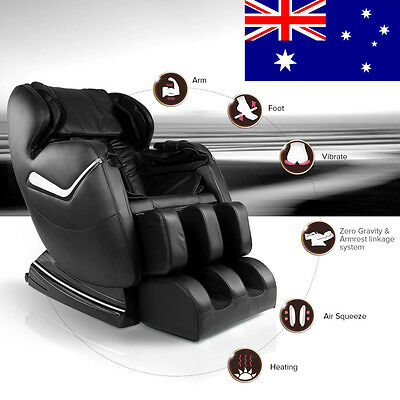 Genuine Real Relax Full Body Massage Chair Recliner ZERO GRAVITY Foot Rest Black