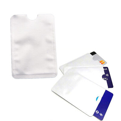 10PCS Anti Theft for RFID Credit Card Protector Blocking Sleeve Skin Case ca