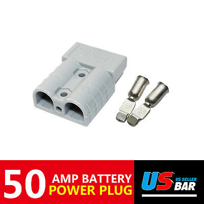 6 Pack New 50 Amp Battery Connector Kit Secure Quick Disconnect