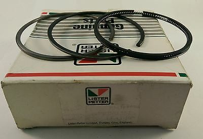 """Lister Petter Piston Ring Set +0.020"""" oversize for AC1 Series 2 363841 ACC113a"""