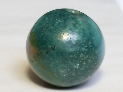 17mm ANCIENT RARE GREEN SERPENTINE STONE BEAD