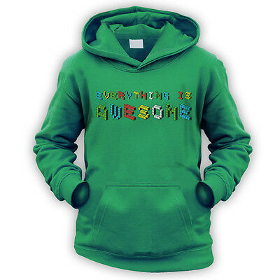 Everything is Awesome Kids Hoodie -x9 Colours- Movie Funny Emmet Master Song
