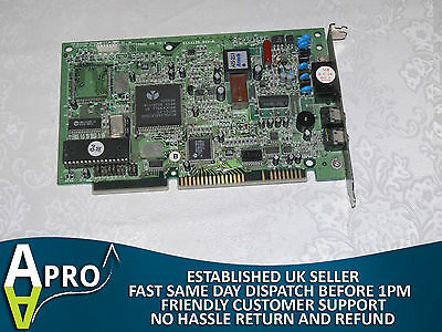 Working - Askey V1456Vqh-R 56K Modem With Voice Rockwell True Hardware Isa Card