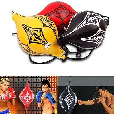 Leather Double End MMA Boxing SpeedBall Focus Training Speed Ball Kick Punch Bag