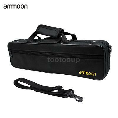 ammoon Flute Case Gig Bag Backpack Box Water-resistant 600D with Strap I5W7